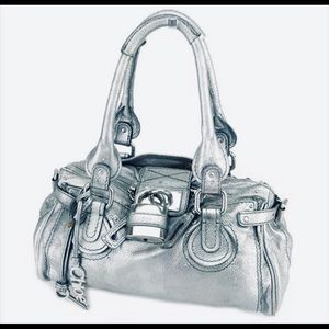 Chloe Paddington medium silver handbag